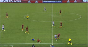 Second red card for AS Roma !
