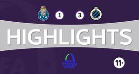 Youth League : FC Porto 1 - 3 FC Bruges