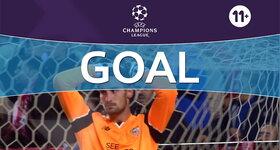 Goal: Sevilla FC 1 - 1 Juventus, Marchisio : 45'+2