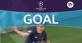 Goal: Arsenal FC 0 - 1 Paris Saint-Germain: 18', Cavani