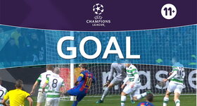 Goal: Celtic FC 0 - 1 FC Barcelona: 24', Messi
