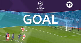 Goal: Arsenal FC 1 - 1 Paris Saint-Germain : 45'+1, Giroud, penalty