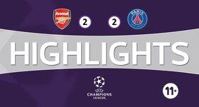 Arsenal FC 2 - 2 Paris Saint-Germain