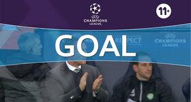 Goal: Manchester City FC 0 - 1 Celtic FC : 4', Roberts