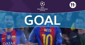 Goal: FC Barcelona 1 - 0 Vfl Borussia Mönchengladbach : 16', Messi