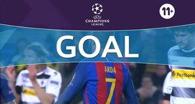 Goal: FC Barcelona 3 - 0 Vfl Borussia Mönchengladbach : 53', Turan