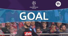 Goal: SL Benfica 0 - 2 Naples : 79', Mertens