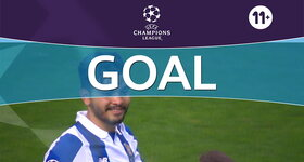 Goal: FC Porto 2 - 0 Leicester City : 26', Corona