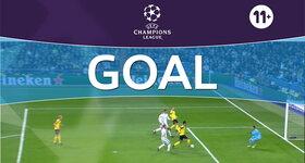 Goal: Real Madrid CF 2 - 1 Borussia Dortmund : 61', Aubameyang