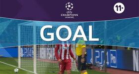 Goal: Bayer Leverkusen 0 - 2 Atlético Madrid : 25', Griezmann