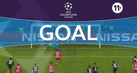 Goal: Bayer Leverkusen 1 - 3 Atlético Madrid : 59', Gameiro, penalty