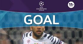 Goal: FC Porto 0 - 2 Juventus : 74', Alves