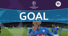 Goal: Naples 1 - 0 Real Madrid : 24', Mertens