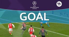 Goal: Arsenal 1 - 2 Bayern Munich : 68', Robben