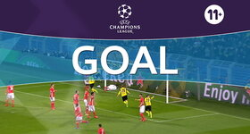 Goal: Borussia Dortmund 1 - 0 Benfica : 4', Aubameyang