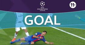 Goal: FC Barcelone 5 - 1 Paris SG : 90'+1, Neymar, penalty