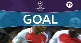 Goal: Monaco 1 - 0 Manchester City : 8', Mbappé