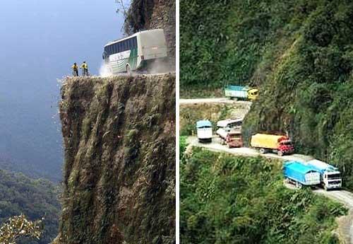 la route de la mort en bolivie les routes les plus dangereuses du monde. Black Bedroom Furniture Sets. Home Design Ideas