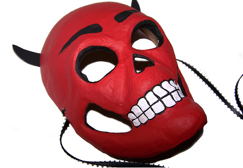 Masque et cornes du diable activit s d 39 halloween - Masque halloween a fabriquer ...