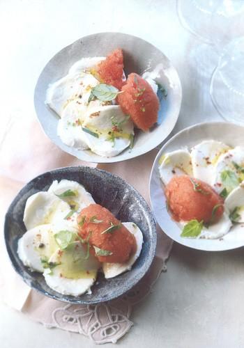 sorbet la tomate et au basilic 9 recettes de glaces et sorbets l gers. Black Bedroom Furniture Sets. Home Design Ideas