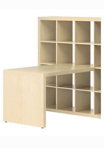 Un bureau avec espace de rangement int gr de belles for Bureau avec rangement integre