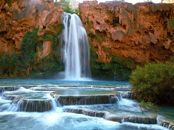 Chute Grand Canyon havasu canyon waterfalls - 10 chutes d'eau impressionnantes - skynet.be