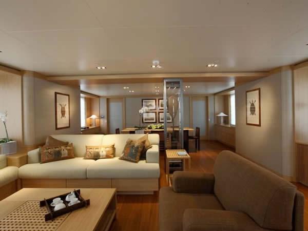 Int rieur l 39 exuma un super yacht cologique for Interieur yacht