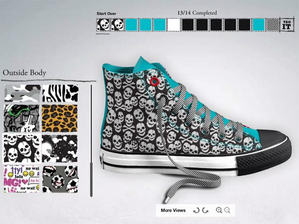 converse customisé