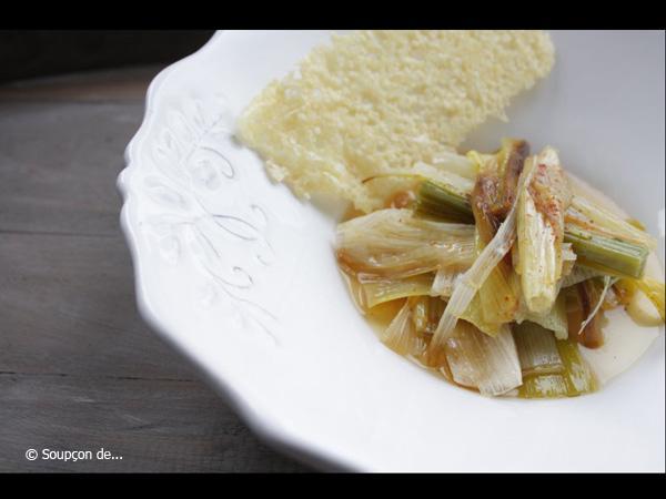 recette 3 fondue de poireaux tuile au comt 8 recettes du jardin d 39 automne. Black Bedroom Furniture Sets. Home Design Ideas