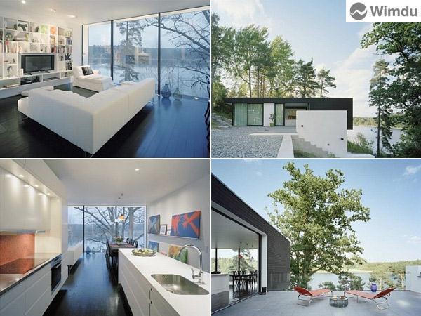 Huis met glazen muren aan de baai met zicht op de archipel van stockholm een ongewone reis - Tafel stockholm huis ter wereld ...