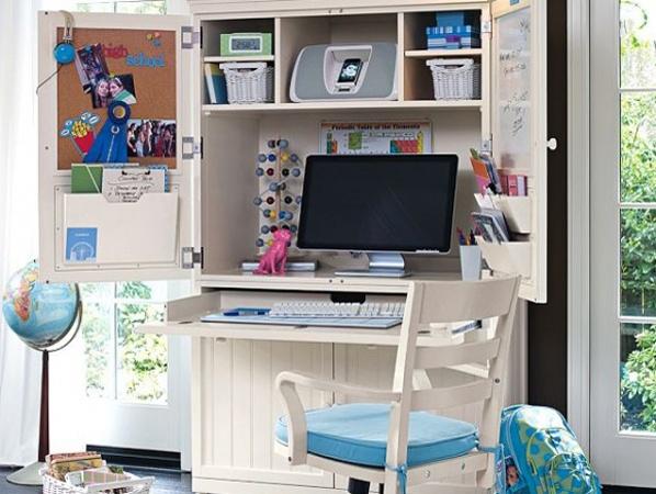 Kinderkamer hoog bed bureau kast studeerkamer werkspot