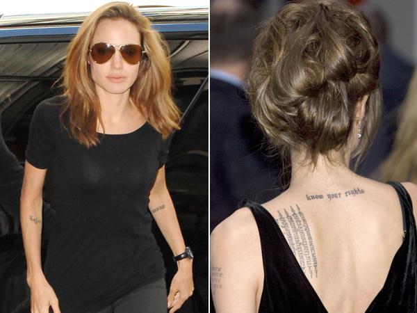 Angelina Jolie Tatouages De Stars