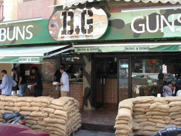 Buns guns originele themarestaurants - Terras camouflagenetten ...