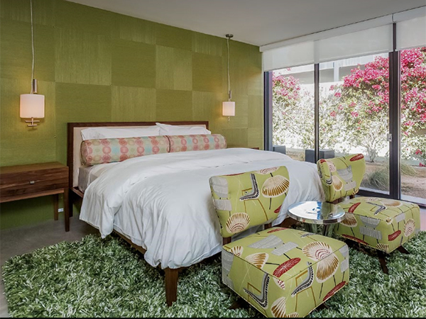 De groene slaapkamer - Te huur: de villa van Leonardo DiCaprio