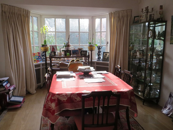 Eetkamer - Te koop: de villa van Delphine Boël