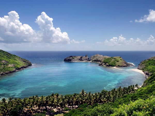 De eilanden van Guadeloupe