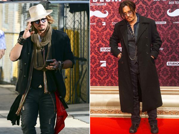 Johnny depp onverzorgde sterren Fashion style johnny depp