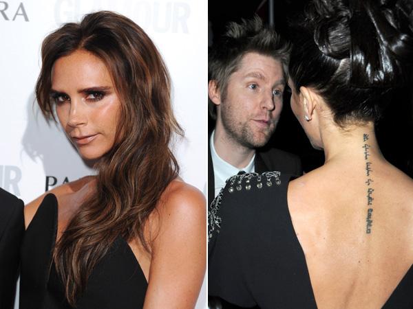 Bien connu Victoria Beckham - Que signifient les tatouages des stars ? KS98
