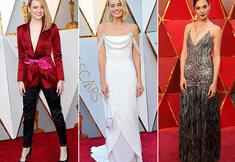 Glamour op de rode loper van de Oscars