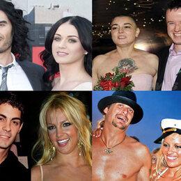 Les 10 mariages les plus courts des musiciens