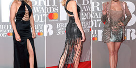 De rode loper van de Brit Awards