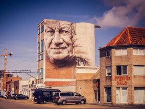 Indrukwekkende graffiti art overspoelt Oostende