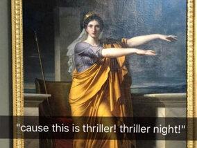 De grappigste Snapchatfoto's verstuurd tijdens een bezoekje aan het museum