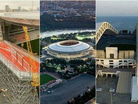 In deze voetbalarena's vindt het WK in Rusland plaats