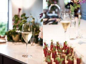 Champagnes et plats légers d'été