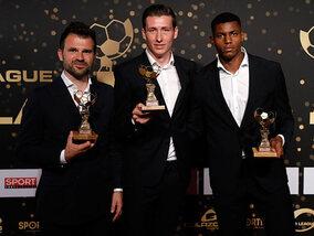 Le Club Bruges à la fête lors du gala du Footballeur Pro de l'année