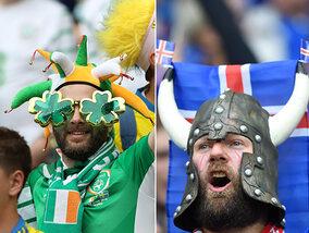 Kleurrijke supporters op het EK
