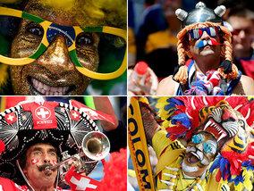 Ces supporters bariolés lors du Mondial