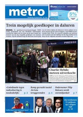 Metro NL du jeudi  15/01/2015