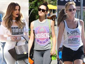 Les stars s'expriment par leur t-shirt
